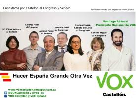Flyer Candidatura A5 VOX Castellón 26-J version 2